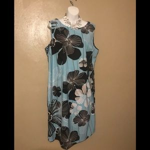 Connected Woman flowered dress, size18W polyester